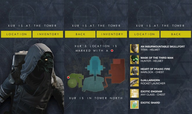 where is xur the app new screens