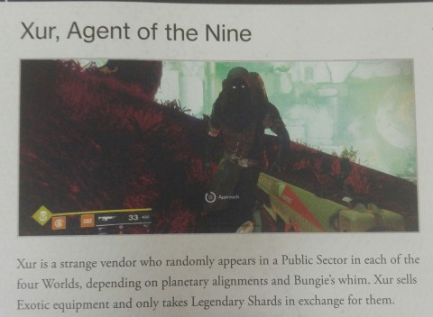 Xur, casually hanging in the wilderness